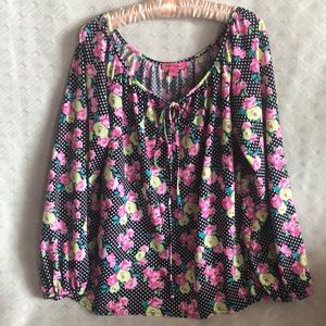 Betsey Johnson floral blouse